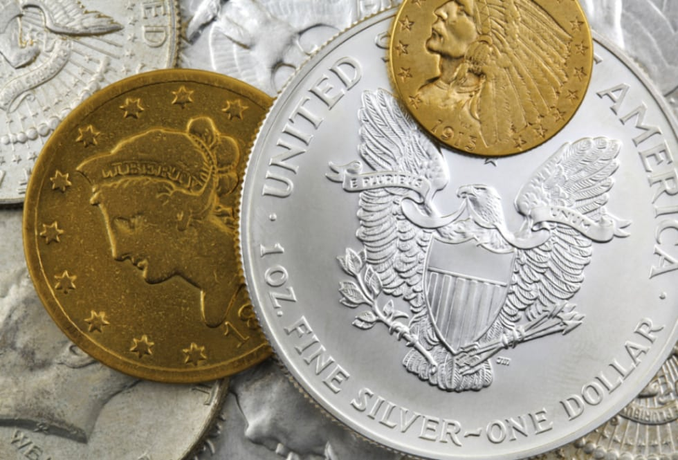 dollars silver gold